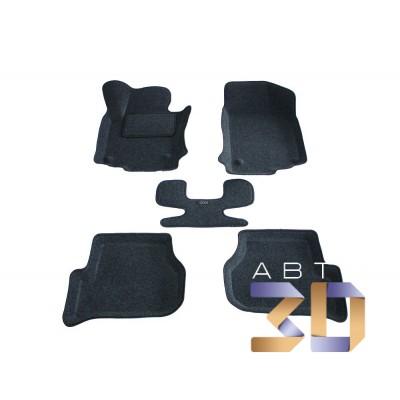 Коврики 3D Volkswagen Jetta 2006, 2007, 2008, 2009, 2010 в салон кузова MK5 Boratex
